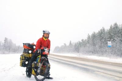 Корейская велосипедистка в России